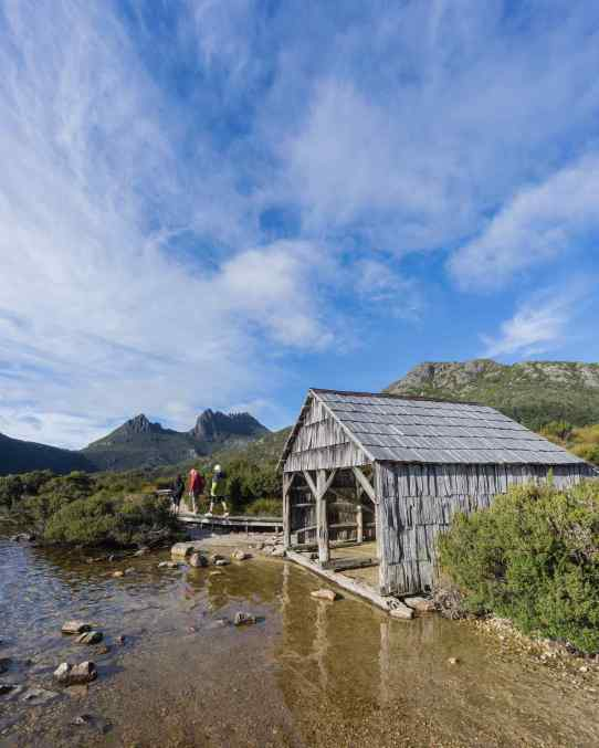 Dove Lake boat shed and Cradle Mountain