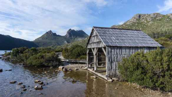 Dove Lake boat shed