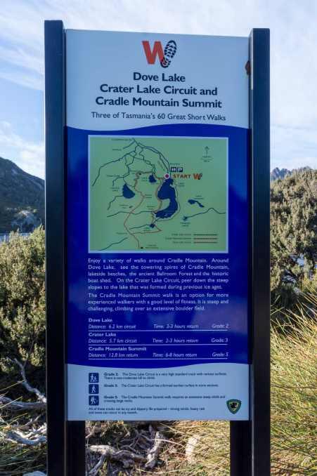 Dove Lake Walks Sign