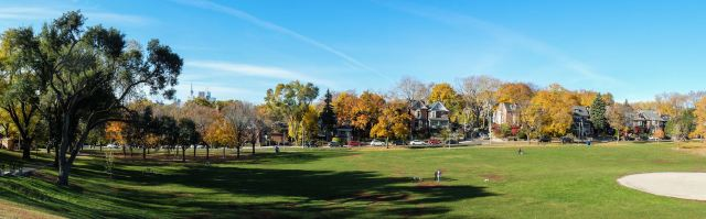 Logan Avenue from the soccer field bleachers