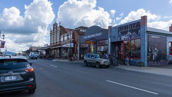 Main street Sheffield Tasmania