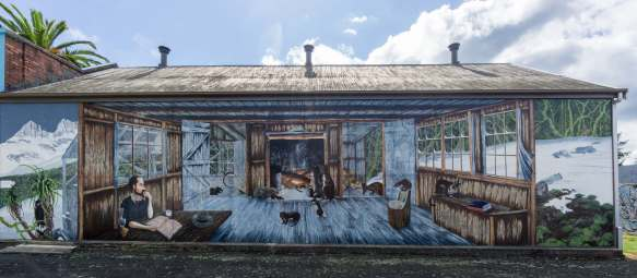 outdoors wall mural in Sheffield Tasmania