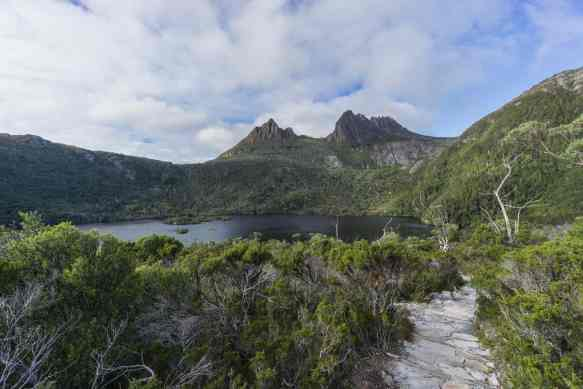 the Dove Lake trail with Cradle Mtn up ahead.jpg