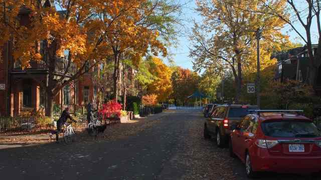 the end of Wellseley Street E. in Cabbagetown
