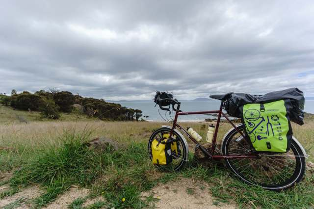 bike park at Spiky Beach on Tasmania's east coast