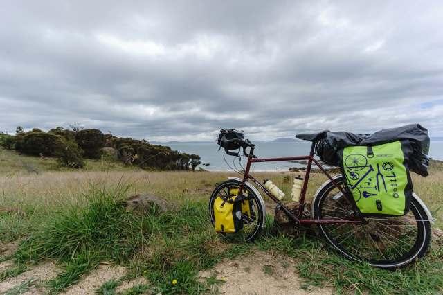 bike park at Spiky Beach on Tasmania's east coast