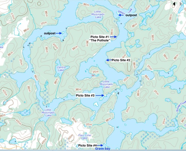 little-lake-missinaibi-picto-sites