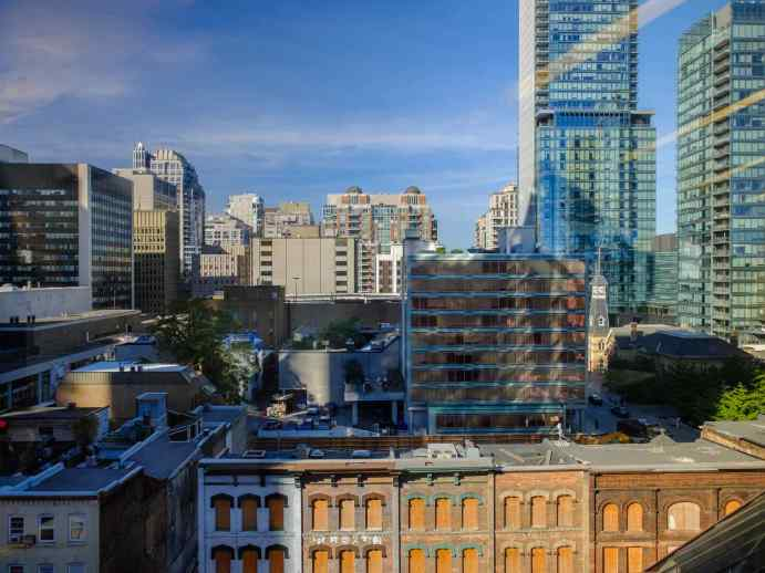 looking over the 1 Yorkville site/corner of Yonge and Yorkville