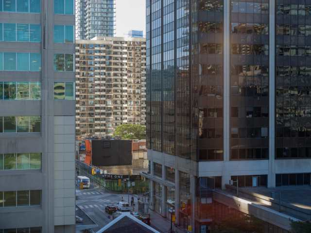 looking S to the corner of Yonge and Bloor