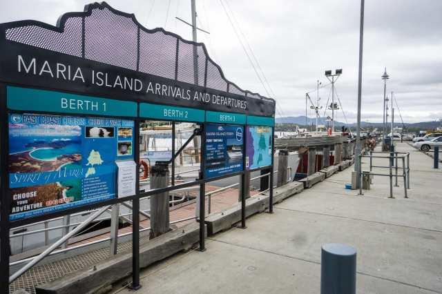 Maria island Ferry dock in Triabunna