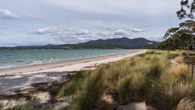 my first beach shot on Tasmania's east coast near Orford