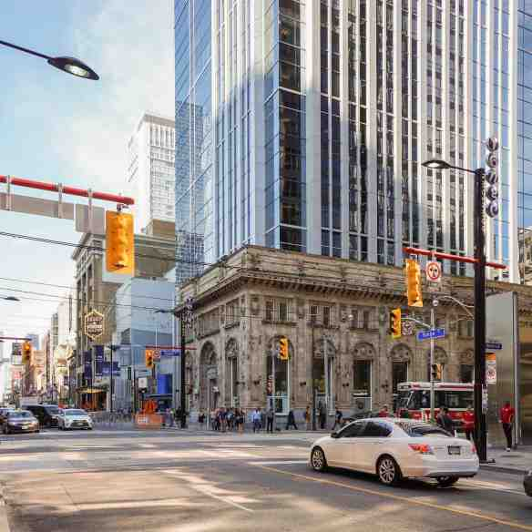 NE corner of Yonge at Queen - view from the south