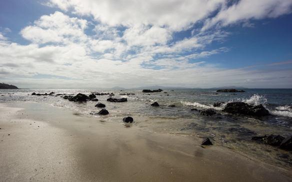 the beach at Mayfield Bay on Tasmania's east coast