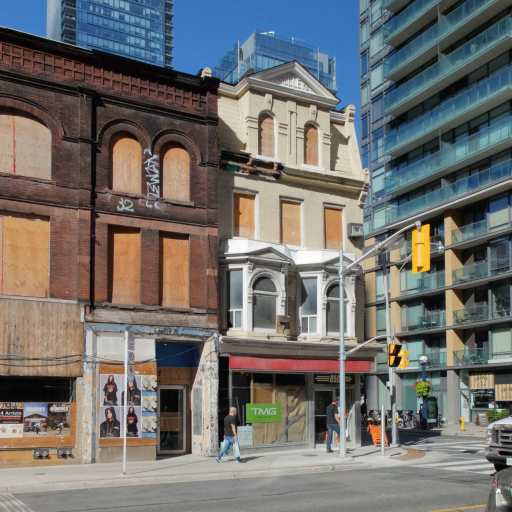 The Cookbook Store at the corner of Yonge and Yorkville - only the facade remains.jpg