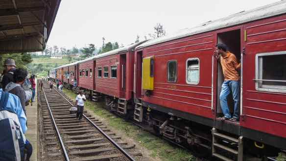 a train heading to Colombo