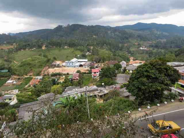 a view of Diyathalawa from the train