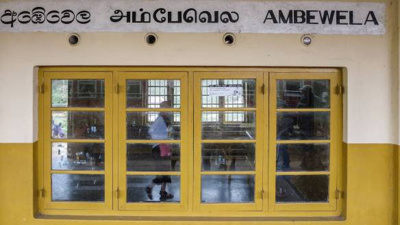 Ambewela Train Staion window