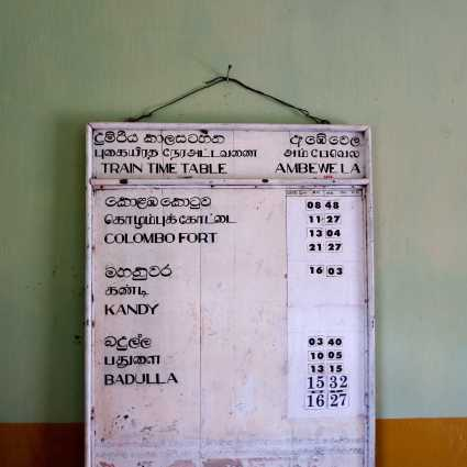 Ambewela - Train Timetable