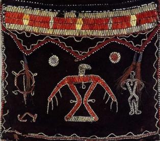 Ojibwa shoulder bag - main panel