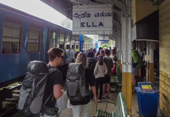 Ella Station - packpackers on the platform