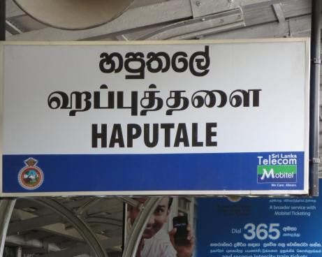 Haputale - trilingual sign