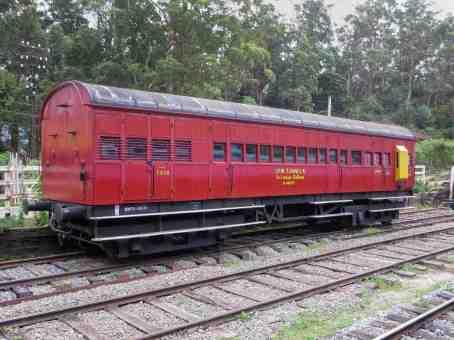 old rail car sitting near Ambewela Station