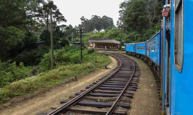 the blue train on its way to Ella -