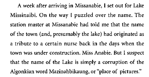 Dewdney on Missanabie and Missinaibi