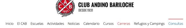 Club Andino de Bariloche header
