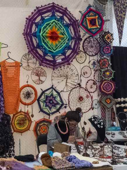 Ojibwa dream catchers at Puerto Varas market