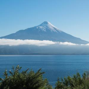 Volcan Osorno from the road to Petrohué