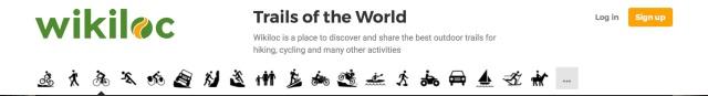 wikiloc site header