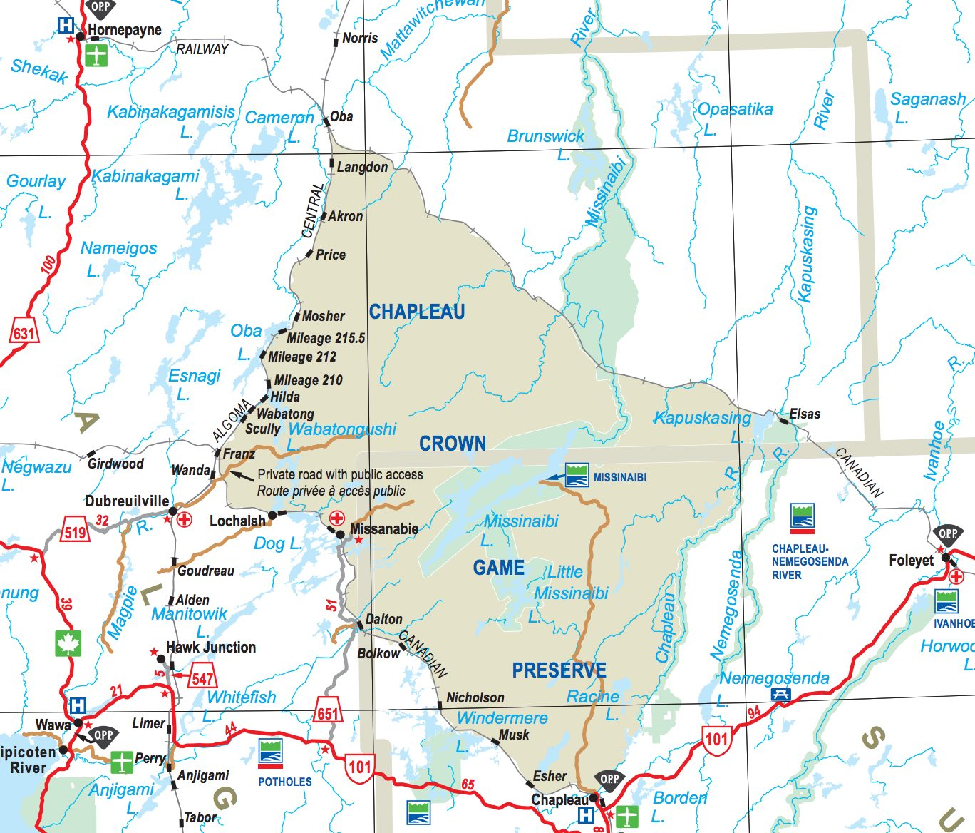 The little missinaibi river from top to bottom intro maps and the river and the lake are within the 7000 square kilometer chapeau crown game preserve which is the worlds single largest animal sanctuary since no gumiabroncs