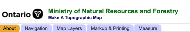 Ontario Minstiry of Nat. Resources website header