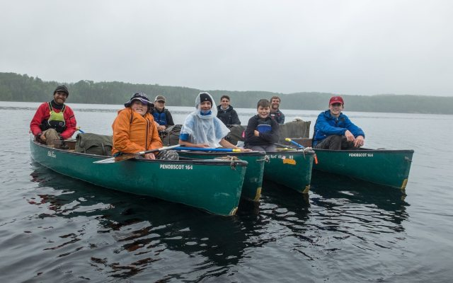 canoe trippers from Minnesota boys camp on Lake Missinaibi