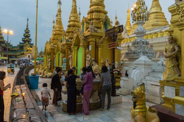one of the eight days of the week stations at the Shwedagon