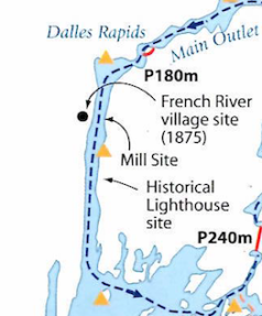Callan map of Dallas Rapids:French River Village Area