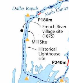 Callan map of Dallas Rapids:French River Village Area
