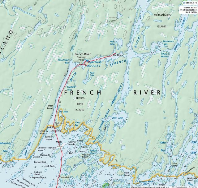 Day 2 - from The Elbow (Main Channel French River) To The Bustards