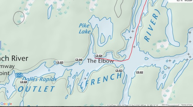 French River - The Elbow campsites