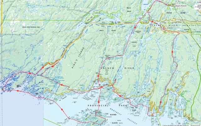 overview of our 110 km. Ramble in the Delta