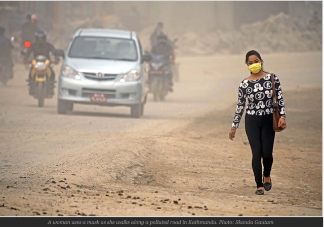 Kathmandu pollution - Himalayan Times photo