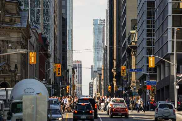 looking N on Yonge from Front Street
