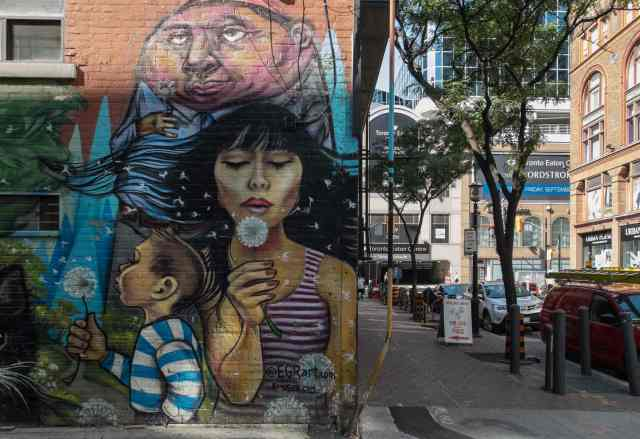 street art near the corner of Shuter at Yonge