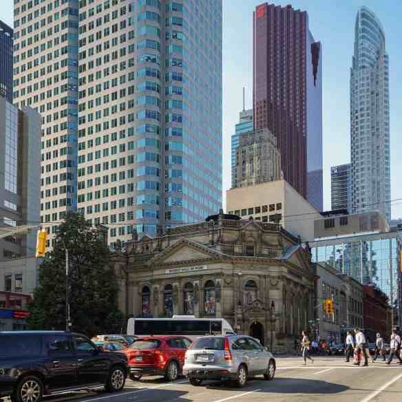 the Hockey Hall of Fame on the NW corner of Yonge/Front