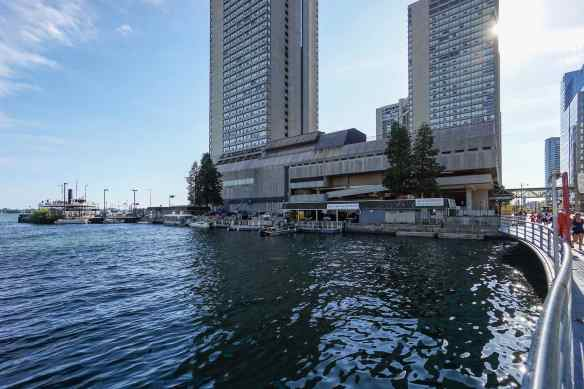 the west side of the harbour at the bottom of Yonge