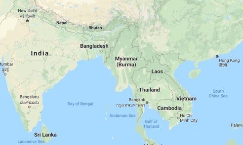 Myanmar google map