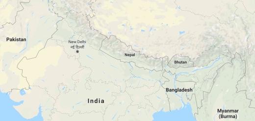 Nepal google map
