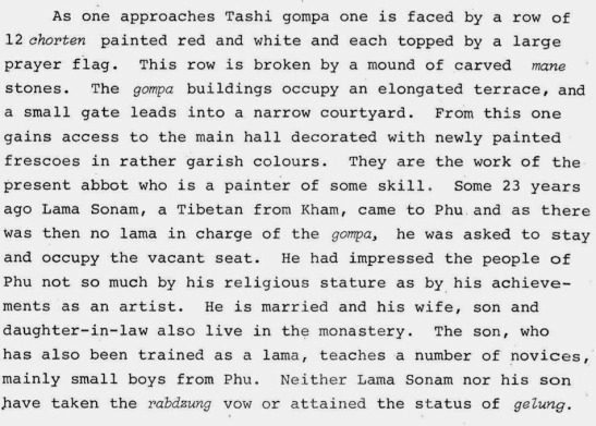 Karma Sonam Rinpoche - Phu gompa