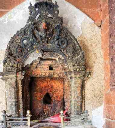 Lalitpur wall shrine without a statue